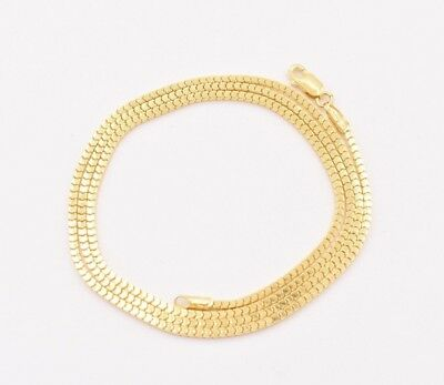 - Square Box Snake Diamond Cut Chain Necklace Real 10K Yellow Gold 1.3mm