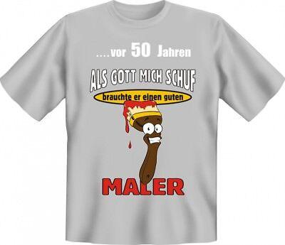 Lustiges T-Shirt 50. Geburtstag für Maler - Geschenk Idee - Lustiges Geschenk