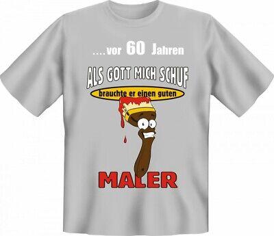 Lustiges T-Shirt zum 60. Geburtstag für Maler - Witzige Geschenk Idee Handwerker