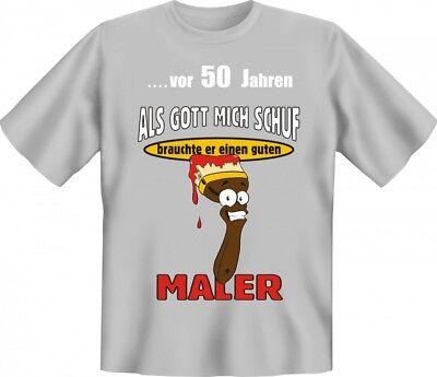 Lustiges T-Shirt zum 50. Geburtstag für Maler - Witzige Geschenk Idee Handwerker