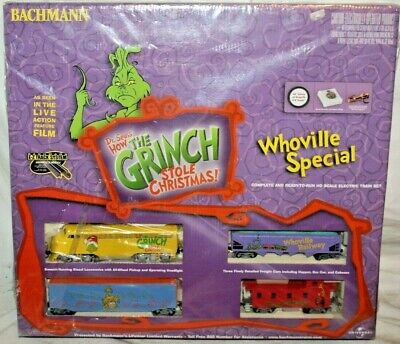 RARE BEAUTY Grinch Who Stole Christmas WHOVILLE SPECIAL Diesel Train Set~MINT!