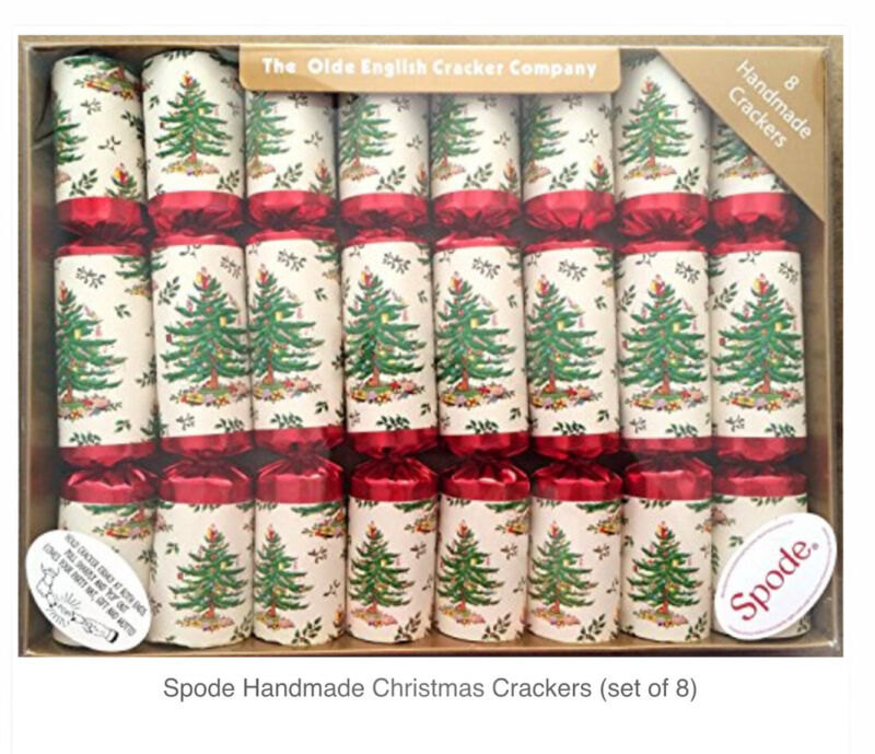 Spode Handmade Christmas Crackers Set of 8 The Olde English Cracker Company NEW
