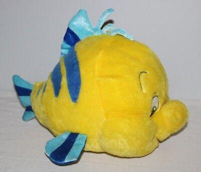 Disney Plush Flounder Fish Large Yellow Little Mermaid Ariel 20