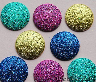 Big Glitter Dots (MASQUERADE BIG GLITTER DOTS Blue Gold Pink Dress It Up Craft Embellishments)