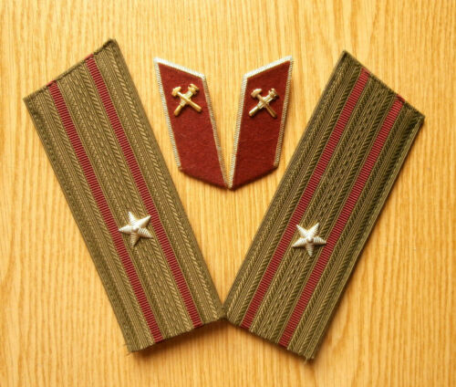 Russian shoulder straps and buttonholes of the major of the fire service, USSR