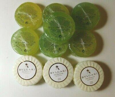 Lot of (10) BVLGARI Soaps - Light Green & Au The' Blanc   50 g each  BARGAIN!!! (Buy Bulgari)