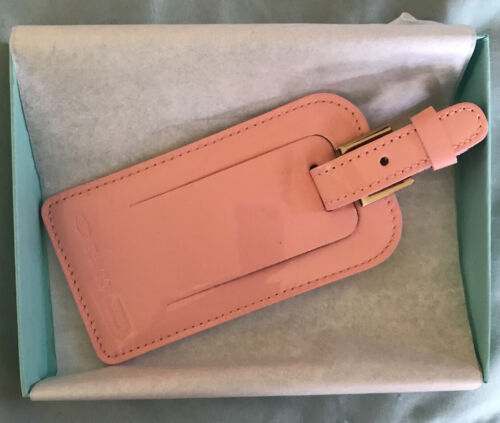 Brand New In Box Pink Patent Leather Luggage Tag Incredibly Rare Perfect  - $25.00