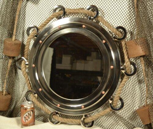 """Aluminum Porthole Mirror 23"""""""