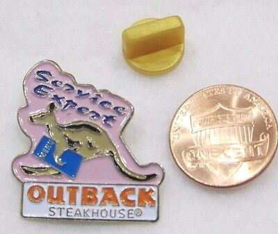 Outback Steakhouse Service Expert Kanagroo Menu Lapel Pin Pinback Travel Food