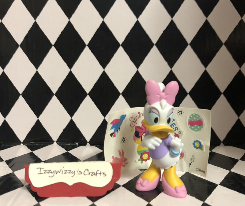 Disney Junior Minnie Collectible Daisy Duck Purple & Pink Outfit Figure New