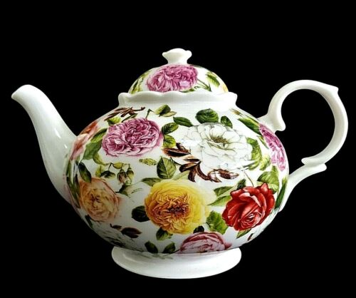 ROSE BOUQUET~by PORTMEIRION~4 Cup TEAPOT~RARE!