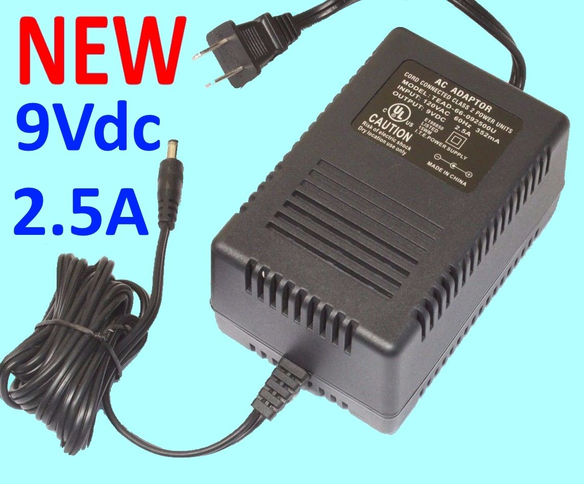 NEW Universal AC Adapter 9VDC 250mA Power Supply 12 foot cord