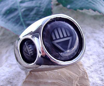 BLACK LANTERN RING STEEL RED GREEN SILVER DC CORPS COMICS SUPER HERO GREEN N45 - Black Lantern Ring
