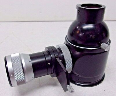 Zeiss Microscope Camera Adapter With Viewfinder Eyepiece Tube Splitter Ec