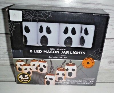 New Halloween Indoor LED Mason Jar Ghost Party Lights (Mason Jar Lights Halloween)