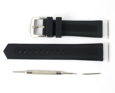 Black Rubber Watch - NEW 22MM RUBBER WATCH BAND STRAP FOR TAG HEUER FORMULA F1 BLACK