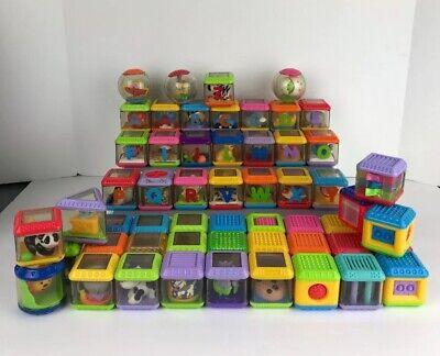 Fisher Price 56 Peek A Boo Blocks & Roll Around Balls Activity Toy Lot