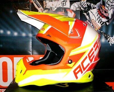 ACERBIS IMPACT 3.0 Cross Helm Enduro MTB NEU Quad L Neon Orange...