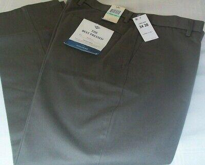DOCKERS Men's Best Pressed Signature Khakis  34x30 Athletic Fit Flat Front