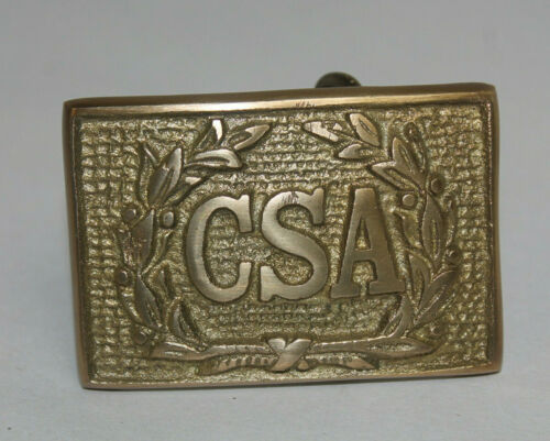 Antique Style Military Civil War Confederate CSA Belt Buckle Brass WREATH #1