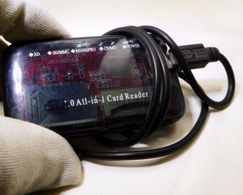 memory card reader USB all -in-1  CF XD SD MMC  MSMSPRO