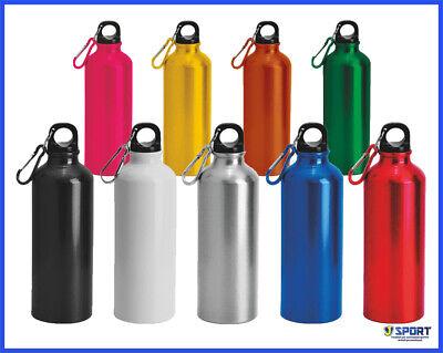 Borraccia in Alluminio Borracce Acqua da Sport Bottiglia Bici Palestra 500 ml