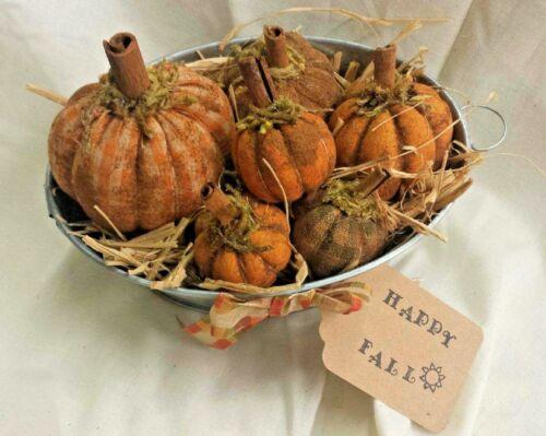 Tub of Pumpkins/Fall/Farmhouse/Primitive/Grunged