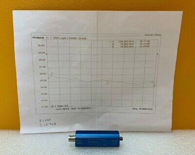 Noisecom Mc63170 10 Mhz To 18 Ghz 25db Enr 28 Vdc Sma F Noise Source. New