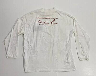 Vintage Martine Rose Susie 91' Logo Cut Mens Sz Medium White Long Sleeve Shirt