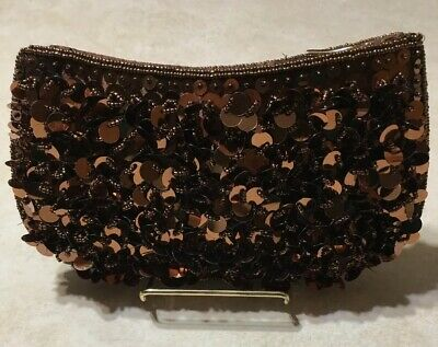 Special Occasions By Saugus Shoe Copper Sequins And Beads Cluch Pouch Beads And Sequins Pouch