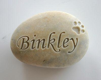 Pet Memorial Custom Engraved Memorial Stone Pet Loss Personalized - CA$18.00