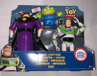 Toy Story 4 Buzz Lightyear Vs. Emperor Zurg w/ Bonus Alien Action Figures - NEW