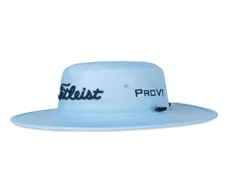 Titleist Tour Aussie Bucket Hat Sun Golf Cap - New 2021 - Sky/Navy