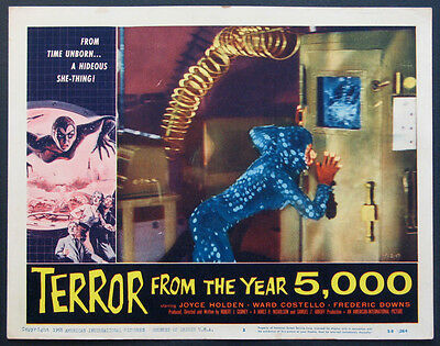 TERROR FROM THE YEAR 5000 HIDEOUS SHE-THING A.I.P. HORROR 1958 LOBBY CARD #3