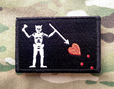 Pirate Hooks (Blackbeard Pirate Tactical Hook Military Morale Patch Black North)