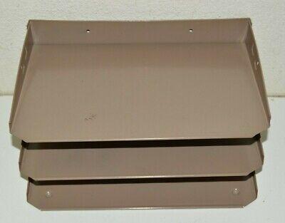 Lit-ning Vintage Industrial 3 Tier Metal Paper File Organizer Wall Mount Desktop