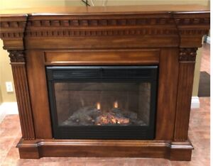 Real Oak Mantel with electric fireplace
