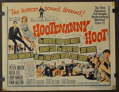 HOOTENANNY HOOT 1963 ORIG. 22X28 MOVIE POSTER PETER BRECK RUTA LEE JOBY BAKER
