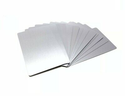100 Silver Anodized Aluminum Business Card Blanks Laser Engraving Metal Cricut