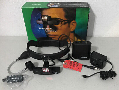 Welch Allyn 20500h Lumiview Portable Binocular Microscope Headband Head Light