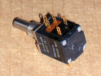 1- Nos Allen Bradley Ab 100k Linear Potentiometer With Two Spst Switches - New