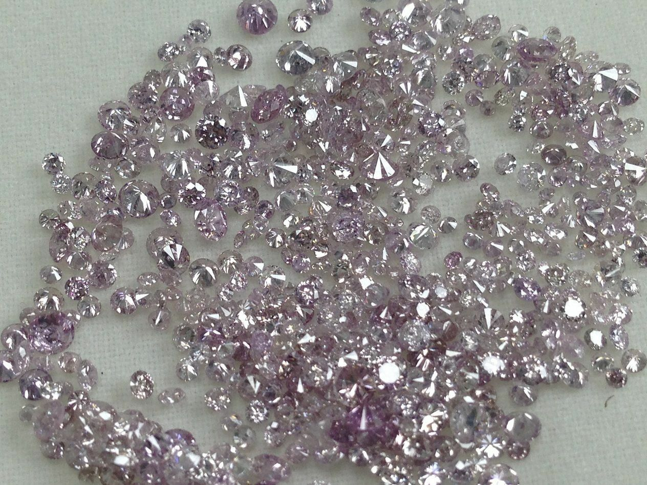 Natural Loose Pink Color Diamond Round Shape Diamonds 1.50 t