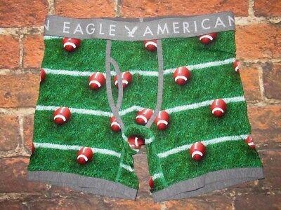 MENS AMERICAN EAGLE FOOTBALL REGULAR LENGTH BOXER BRIEF M (Football Boxers)