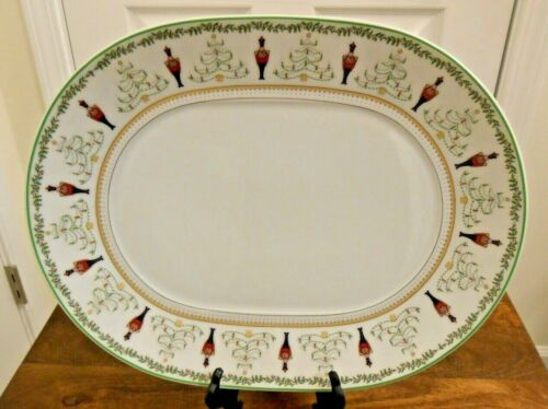 "Bernardaud Grenadiers Happy Holiday 13 1/4"" Oval Serving Platter"