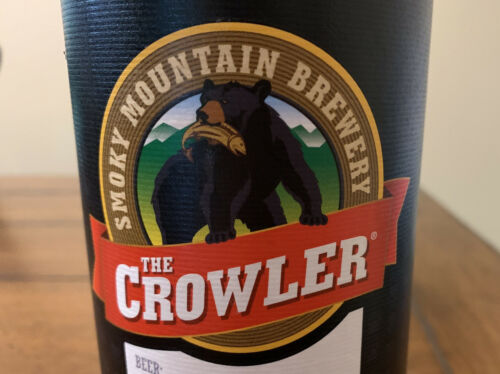 Smoky Mountain Brewery Aluminum Beer Can 1 Quart Crowler With Lid 32 FL OZ  - $12.99