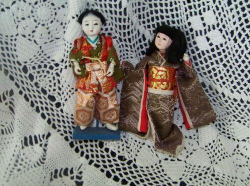 2 ANTIQUE JAPANESE DOLLS,  GEISHA GIRL  &   MALE