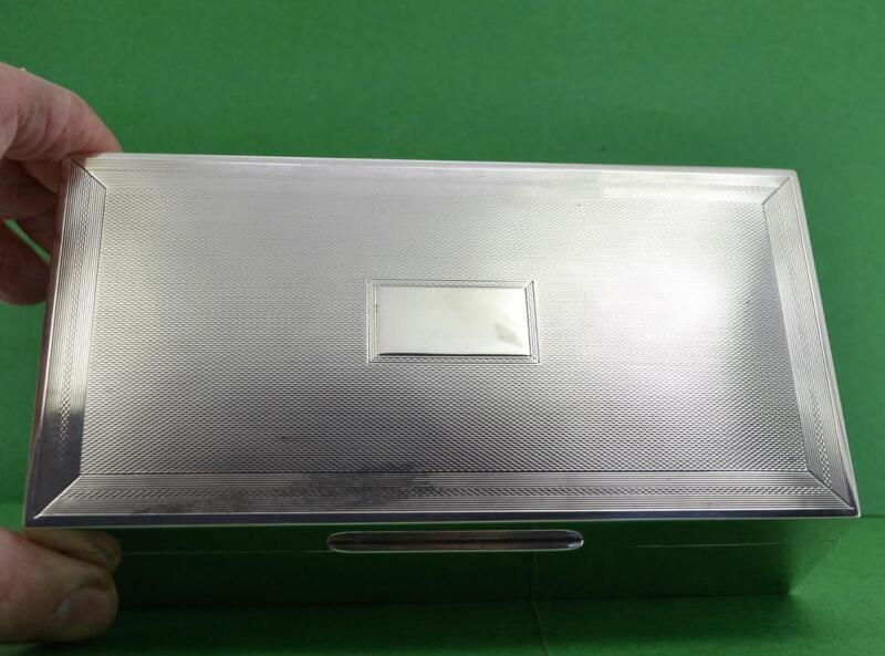 Vintage Sterling Silver Cigarette Box Art Deco Smith & Bartlam Birm 1938 447 Gr