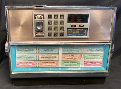 VINTAGE SEEBURG DIGITAL ELECTRONIC CONSOLLETTE BAR RESTAURANT SPEAKER WALLBOX