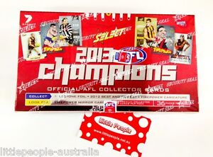2013 AFL CHAMPIONS TRADING CARDS BOX 36 PACKETS FACTORY SEALED SELECT NEW