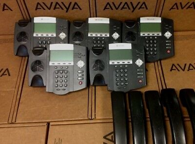 Lot Of 5 Polycom Soundpoint Ip 450 Ip450 2201-12450-001 Office Business Phone